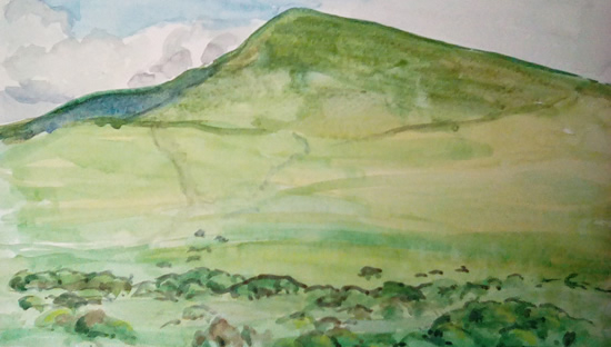 Hay Bluff - Welsh Landscape - Margaret Harvey - Surrey Artist - Painter in Oil, Acrylic and Watercolour