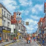 High Street, Guildford – Malcolm Surridge – Artist – Landscape Painting in Pastels – Surrey Artists Gallery