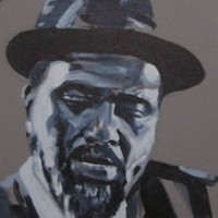 Jazz Musician – Blue Monk (Thelonious Monk) – Surrey Artist – Nette Robinson – Jazz and Chess Portraits and Abstract Art – Gallery