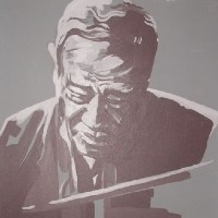 Jazz Musician – Duke Ellington (Grey) – Surrey Artist – Nette Robinson – Jazz and Chess Portraits and Abstract Art – Gallery