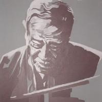 Jazz Musician – Duke Ellington (Grey) – Surrey Artist – Nette Robinson – Jazz and Chess Portraits and Abstract Art – Gallery