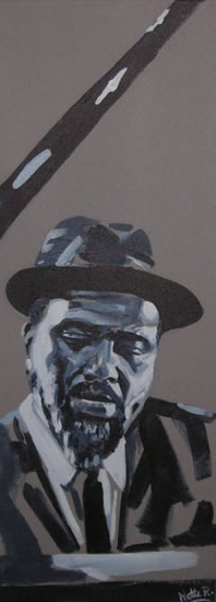 Jazz Musician - Thelonious Monk - Surrey Artist - Nette Robinson - Jazz and Chess Portraits and Abstract Art - Gallery