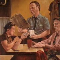 Late Night Cafe – William E Rochfort – Fine Art Prints – Surrey Artists Gallery