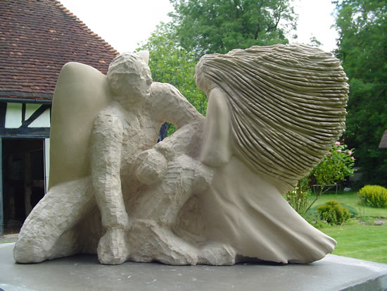 Limestone Sculpture - Guidance - Zeljko Ivankovic (Jericho) - Sculptor and Artist - Surrey Sculpture Society