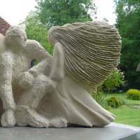 Limestone Sculpture - Guidance - Surrey Sculptor Zeljko Ivankovic aka Jericho
