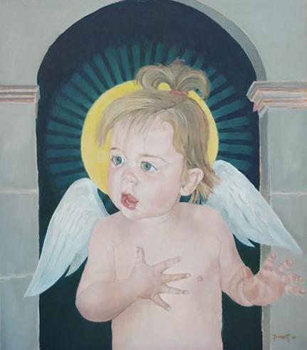 Little Angel - Ruby - Mark Dorsett - Watercolour and Oil Paintings - Littleton Artists Group