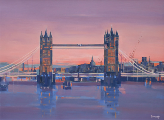 London - Tower Bridge - English Landmark - Mark Dorsett - Watercolour and Oil Paintings - Littleton Artists Group
