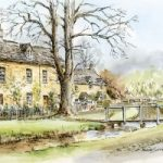 Lower Slaughter, Cotswolds – Malcolm Surridge – Artist – Landscape Paintings – Surrey Artists Gallery