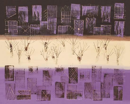Manhattan Purple - Ali Cockrean - National Acrylic Painters' Association - Surrey Artists