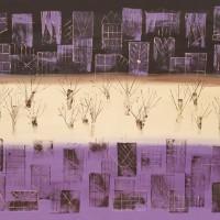 Manhattan Purple - Contemporary Art - Ali Cockrean