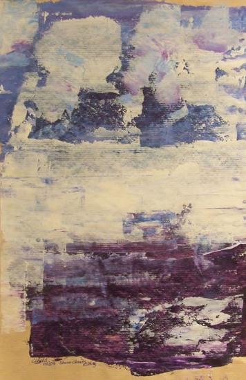Modern Art - Storm Clouds Rising - Cate Field - Acrylics and Digital Artist, Art Teacher and Tutor - Surrey Artists Gallery