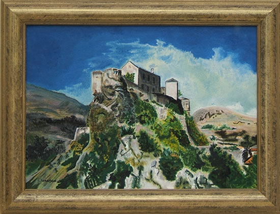 Mountainside Retreat - Corsica - Florenca (June Martin) - Surrey Artists Gallery