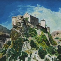 Mountainside Retreat – Corsica – Florenca (June Martin) – Surrey Artists Gallery