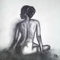 Nude Woman – Light Of Day – Rachael Tan – Surrey Artist – Painting in Acrylics on Canvas and Drawings in Charcoal and Pencil