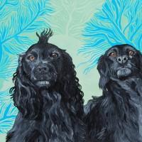 Pet Spaniels – Portrait – Katwish – Katie Griffiths – Portrait Artist – Oils, Acrylics and Textile Sculpture