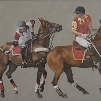 Polo Match, England – Mark Dorsett – Watercolour and Oil Paintings – Littleton Artists Group