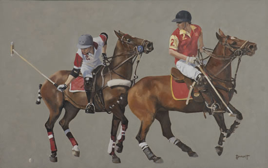 Polo Match, England - Mark Dorsett - Watercolour and Oil Paintings - Littleton Artists Group