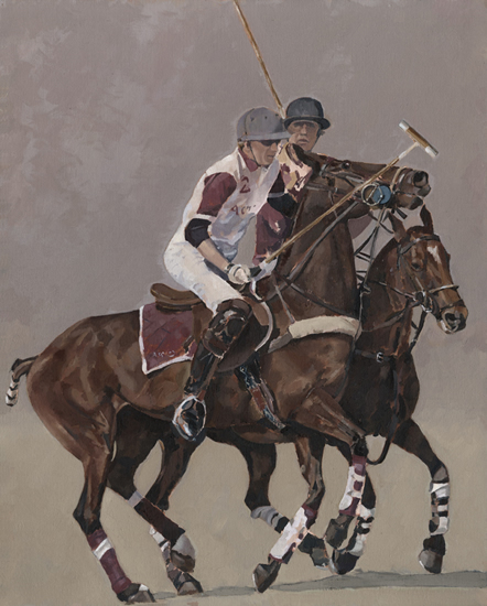Polo Match - Oil Study - Mark Dorsett - Watercolour and Oil Paintings - Littleton Artists Group