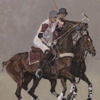 Polo Match – Oil Study – Mark Dorsett – Watercolour and Oil Paintings – Littleton Artists Group