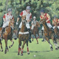 Polo at Smiths Lawn, Windsor – Mark Dorsett – Watercolour and Oil Paintings – Littleton Artists Group