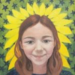 Portrait – Betty, a Strong Girl – Katwish – Katie Griffiths – Portrait Artist – Oils, Acrylics and Textile Sculpture
