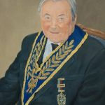 Portrait Commission – Walter – Mark Dorsett – Watercolour and Oil Paintings – Littleton Artists Group
