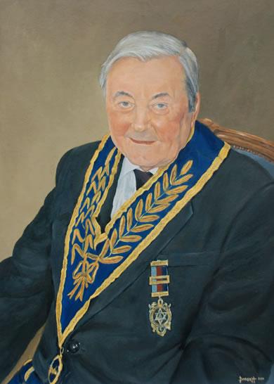 Portrait Commission - Walter - Surrey Artist Mark Dorsett - Watercolour and Oil Paintings - Littleton Artists Group