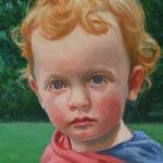 Portrait of Child – Milo – Iain White – Surrey Artist – Portraits and other Paintings in Acrylic, Pastel and Conte