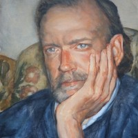 Portrait of Pete – Iain White – Surrey Artist – Portraits and other Paintings in Acrylic, Pastel and Conte