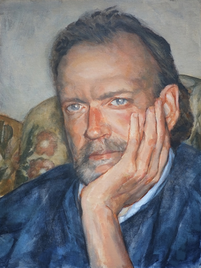 Portrait of Pete - Surrey Artist - Iain White - Portraits and other Paintings in Acrylic, Pastel and Conte