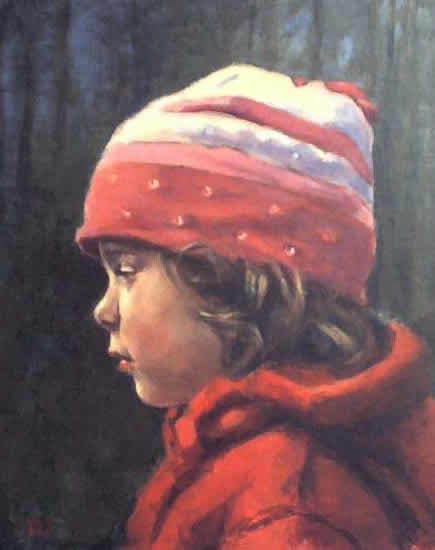 Portrait of Young Girl - Natalie - Iain White - Surrey Artist - Portraits an other Paintings in Acrylic, Pastel and Conte