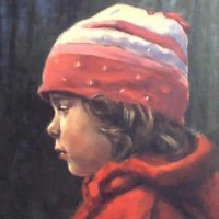 Portrait of Young Girl – Natalie – Iain White – Surrey Artist – Portraits an other Paintings in Acrylic, Pastel and Conte
