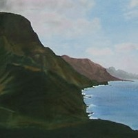 Rocky Coastline – Gran Canaria – Florenca (June Martin) – Surrey Artists Gallery