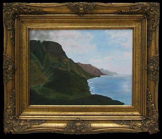 Rocky Coastline View - Gran Canaria - Florenca (June Martin) - Surrey Artists Gallery