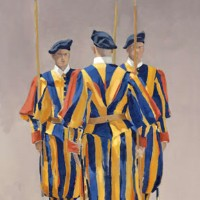 Rome – Vatican Guards – Mark Dorsett – Watercolour and Oil Paintings – Littleton Artists Group