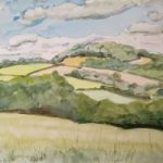 Saddlebow Hill Herefordshire – Landscape – Margaret Harvey – Surrey Artist – Painter in Oil, Acrylic and Watercolour