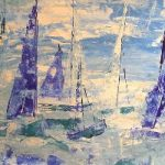 Sailing Regatta Kicks Off – Cate Field – Acrylics and Digital Artist, Art Teacher and Tutor – Surrey Artists Gallery