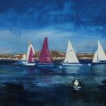 Sailing – Rugged Coastline near Ajaccio, Corsica – Florenca (June Martin) – Surrey Artists Gallery