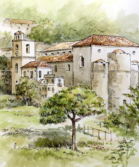 Scala from Ravello - Amalfi Coast, Italy - Malcolm Surridge - Artist - Landscape Paintings - Surrey Artists Gallery