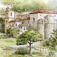 Scala from Ravello – Amalfi Coast, Italy – Malcolm Surridge – Artist – Landscape Paintings – Surrey Artists Gallery