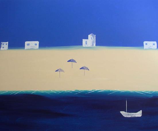 Seascape - Contemporary Art - Three Shades - Ali Cockrean - National Acrylic Painters' Association - Surrey Artists
