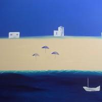 Seascape – Contemporary Art – Three Shades – Ali Cockrean – National Acrylic Painters' Association – Surrey Artists