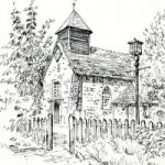 St Georges Church Esher, Surrey – Malcolm Surridge – Artist – Pen and Ink Drawings – Surrey Artists Gallery