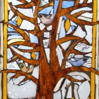 Stained Glass Mosaic – Four Seasons – Winter – Artist – Susanne Parker – Surrey Artists Gallery