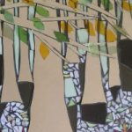 Stained Glass Mosaic – Trees – Beechwood Thicket – Artist – Susanne Parker – Surrey Artists Gallery