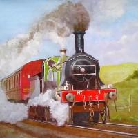 Steam Locomotive – Great Eastern Railway – 8 Foot Single – W.R. Kimber – Surrey Artist Bill Kimber