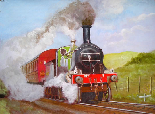Steam Locomotive - Train - Great Eastern Railway - 8 Foot Single - W.R. Kimber - Surrey Artist Bill Kimber