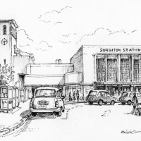 Surbiton Station – Malcolm Surridge – Artist – Pen and Ink Drawings – Surrey Artists Gallery