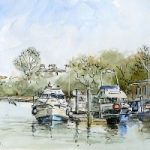Thames Boats – Malcolm Surridge – Artist – Pen and Ink Drawings – Surrey Artists Gallery