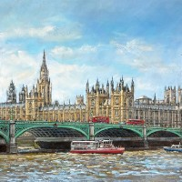 The Thames At Westminster – Malcolm Surridge – Surrey Artist – Pastels and Drawings – Limited Edition Fine Art Prints
